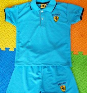 Новый костюм футболка и шорты на 6-7 лет