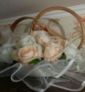 Кольца свадебные на авто