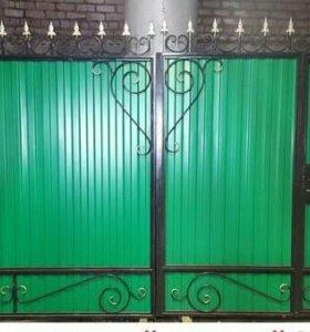 Кованые ворота и узоры