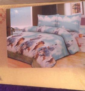 Новый комплект постельного белья сатин