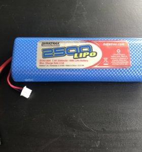 Duratrax 2500 mAh 7,4V LiPo rc 2s аккумулятор
