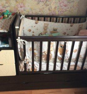 Детская кровать маятник ,трансформер.