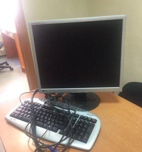 Монитор и клавиатура