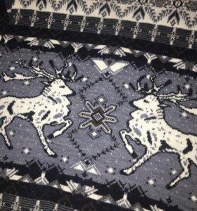 Мужской свитер с оленями новый