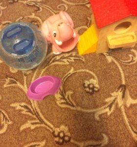 Домик,шар,дом и кормушка