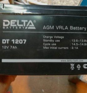 Аккумулятор дельта 1207, 1218, 1240