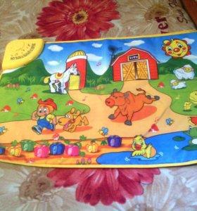 Детский коврик музыкальный новый