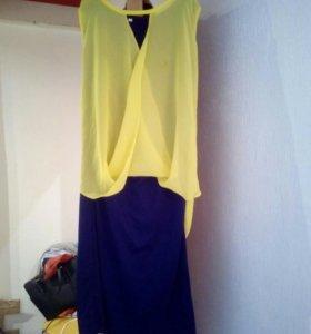Новый комплект:платье+накидка