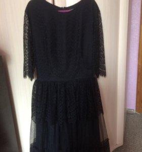 Платье чёрное «Золотой песок»