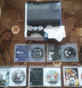 Sony playstation 3 super slim 500GB + 25 игр