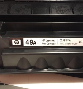 Картридж HP 49A оригинал новый вскрыта упаковка
