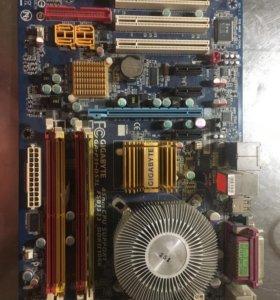 Материнская плата, оперативка ddr2 1gb и процессор