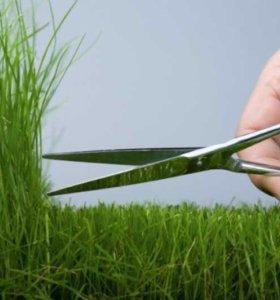 Стрижка газона,покос травы