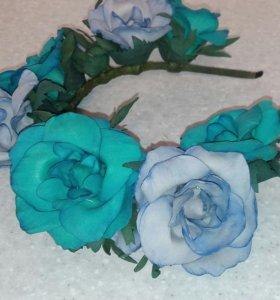 Цветочный ободок для фотосессий