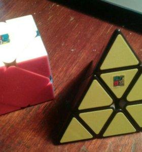 Головоломки( скьюб и пирамидка)