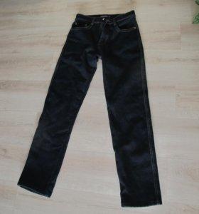 теплые джинсы на флисе