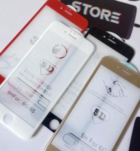 Защитные стекла 3D/5D для iPhone