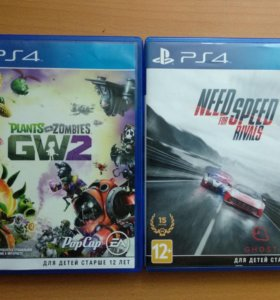 Need for speed rivals и plants vs zombies 2 на ps4