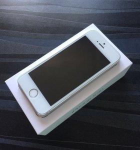 iPhone 5s, silver, 16Gb, идеальное состояние.