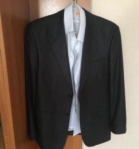 Пиджак мужской, чёрный, белая рубашка