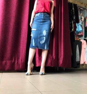 Юбка джинсовая новая 40,42,44