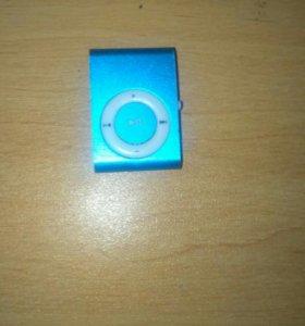 Синий мини mp3-плеер
