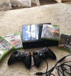 Xbox 360 + 2 джойстика + 6 игр