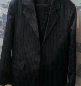Школьный костюм-тройка, рост 130 см