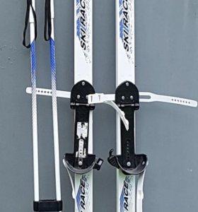 "⛷⛷⛷Лыжи с палками ""Ski Race"" 150 см. ⛷⛷⛷"