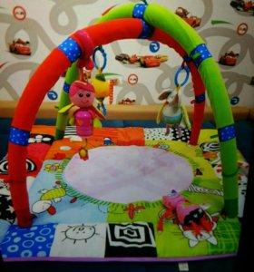 развивающий коврик с игрушками+дуга в подарок