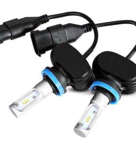 Светодиодные лампы H11 комплект