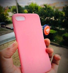 В подарок Розовый чехол для IPhone 7/8.