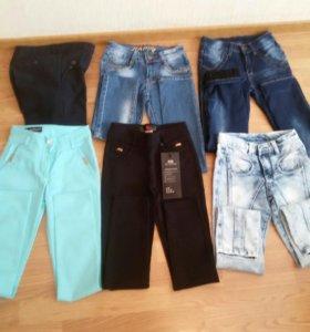 Брюки джинсы для девочки 140