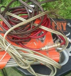 Комплект: сабуфер+ усилок+ провода.