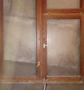 Окна деревянные б/у 2 штуки