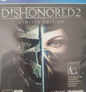 Диск для ps4 Dishonored 2