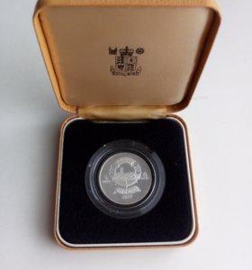 Монета 5 йеменских динар 1977 года