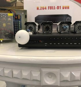 Видеокомплект H.264 новый, гарантия 1 год.