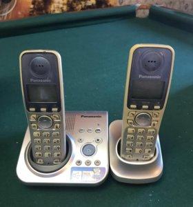Стационарный телефон с двумя трубками