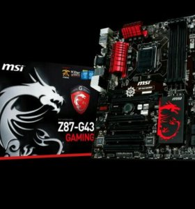 Связка msi z87-g43 gaming Проц i-3 4160 8гб