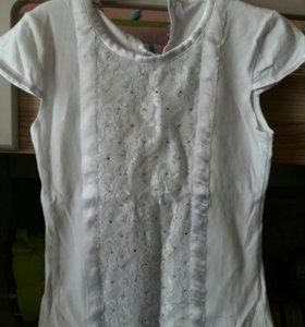 Разные школьные блузочки для девочки 122-128.