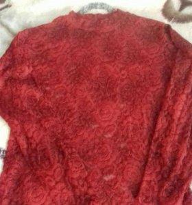 Блузка гипюровая