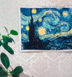 """Ван Гог """"звездная ночь"""" 45×60см"""