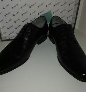 Туфли,коллекция Barcelo Biagi,черная кожа,новые