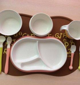 Набор посуды для кормления Pigeon