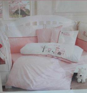 Детское постельное с бортиками