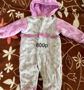 Одежда для девочки 0-3 месяца
