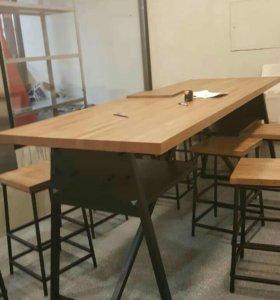 Металлические каркасы и мебель в стиле Лофт