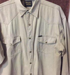 Джинсовая рубашка бренд Wrangler