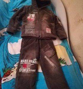 Вельветовый костюм для мальчика